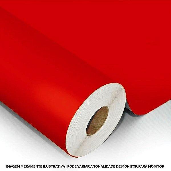 Interline - Vinil adesivo polimérico fire red (vermelho vivo) brilho 61 cm de largura - Aplike