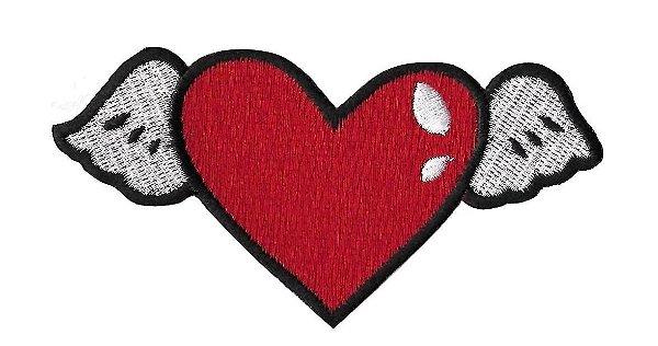 Coração Asas Vermelho