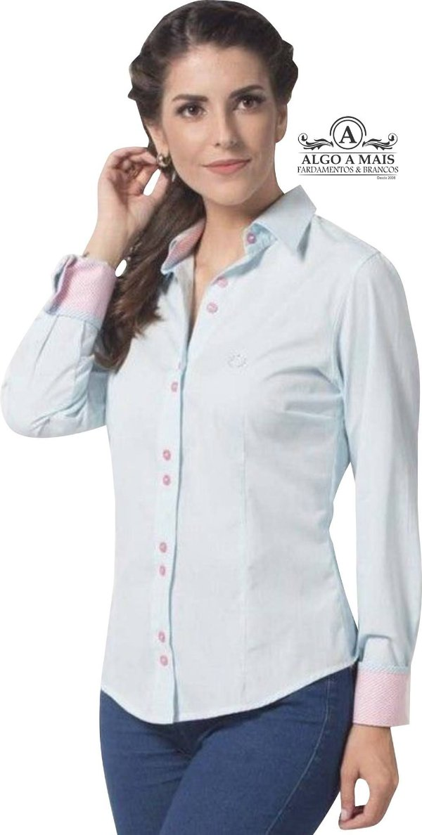 a562d24615 Camisas Sociais Manga longa Feminina. Solicite seu orçamento.