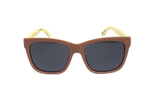 Óculos de Sol SunHot BM.001 Bamboo Black POLARIZADO