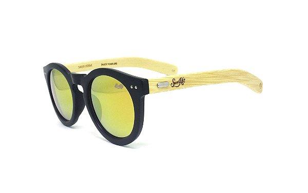 Óculos de Sol SunHot BM.002 Bamboo Orange