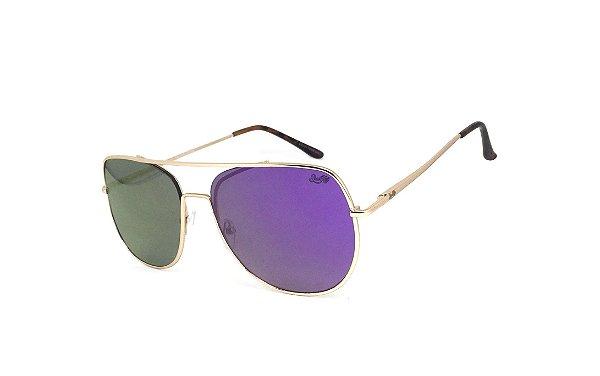 Óculos de Sol SunHot MT.003 Gold Purple