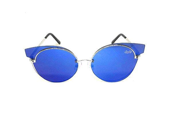 Óculos de Sol SunHot MT.018 Silver Blue