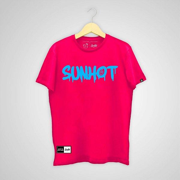 Camiseta SunHot ''Dripping Neon'' Rosa