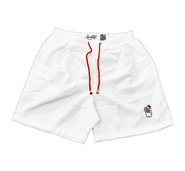 Short Praia SunHot ''Swim Shorts'' Branco