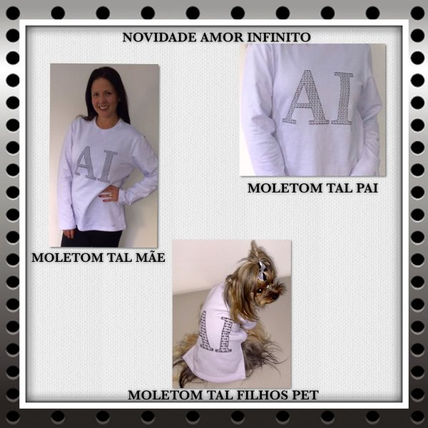 MOLETOM ADULTO TAL MAE TAL PET BRANCO