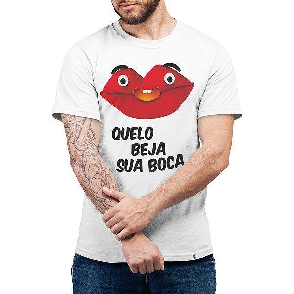 Quelo Beja Sua Boca - Camiseta Basicona Unissex