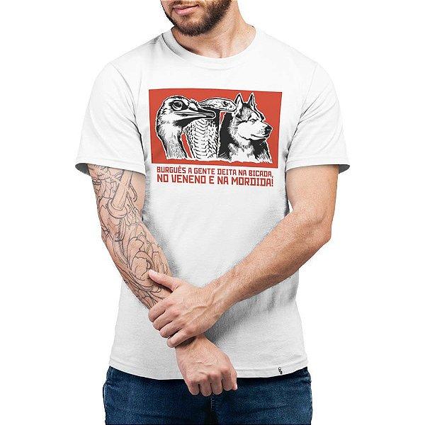 Burguês a Gente Deita na Bicada - Camiseta Basicona Unissex