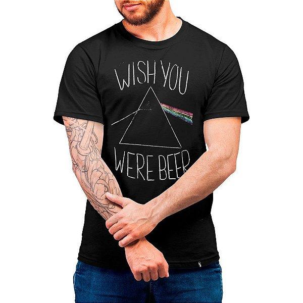 Wish Your Were Beer - Camiseta Basicona Unissex