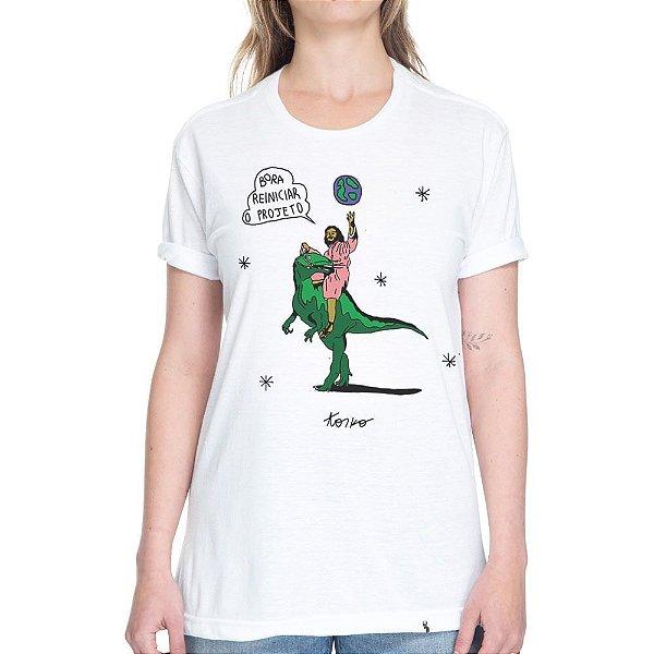 Bora Reiniciar o Projeto - Camiseta Basicona Unissex