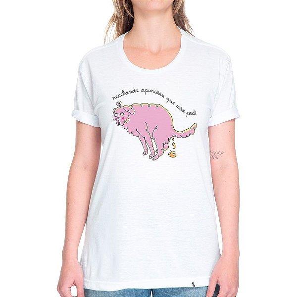 Recebendo Opiniões Que Não Pedi - Camiseta Basicona Unissex