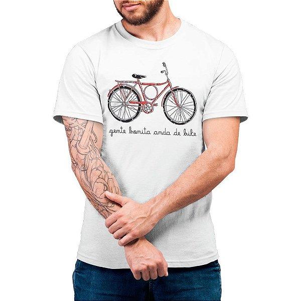 Gente Bonita Anda de Bike - Camiseta Basicona Unissex