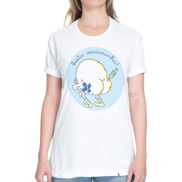 Bota Vacininha - Camiseta Basicona Unissex