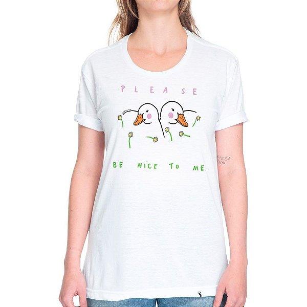 Please Be Nice to Me - Camiseta Basicona Unissex