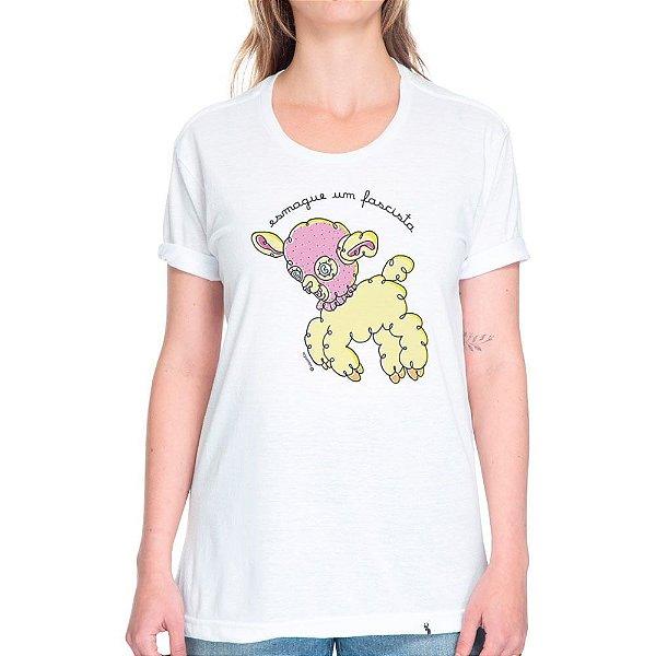 Esmague Um Fascista - Camiseta Basicona Unissex