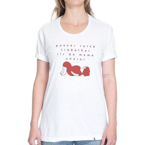Rotina - Camiseta Basicona Unissex