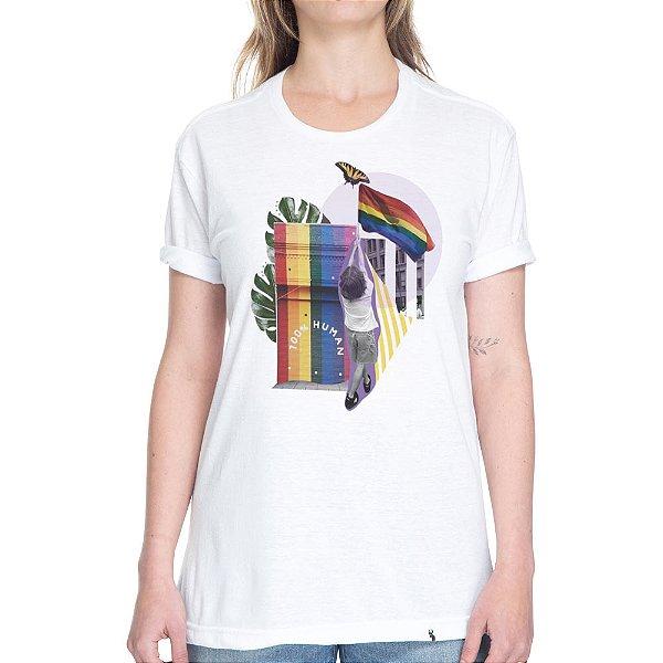 Human #pride - Camiseta Basicona Unissex