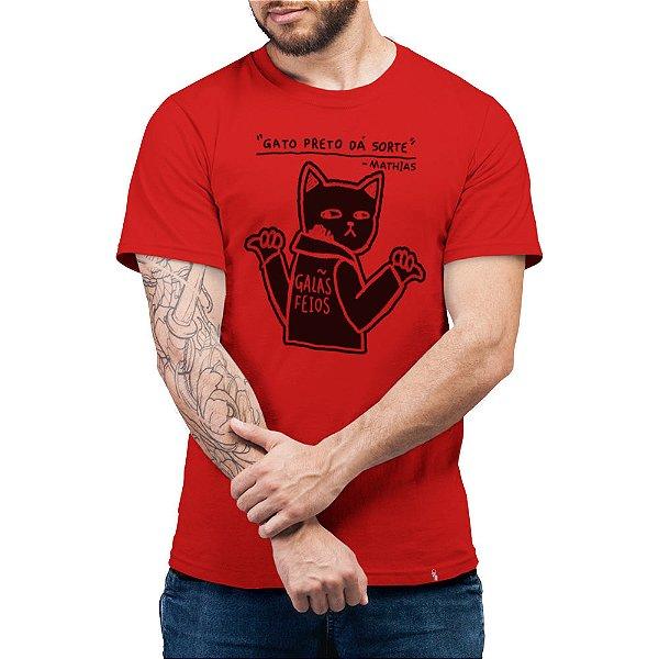 Gato Preto Dá Sorte - Camiseta Basicona Unissex