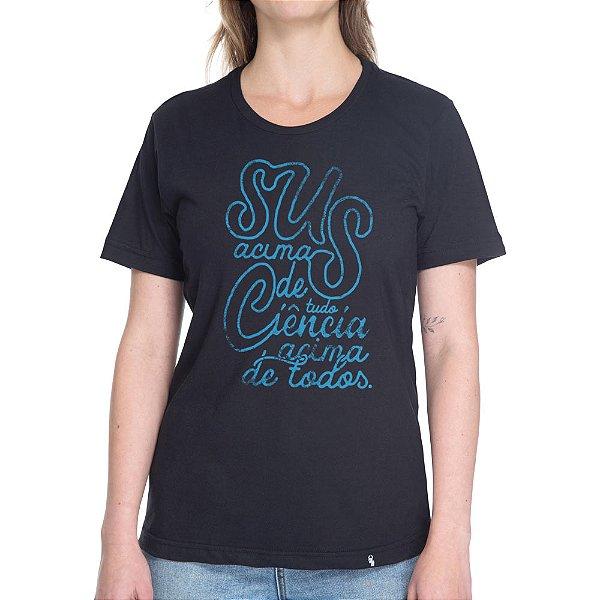 SUS Acima de Tudo - Camiseta Basicona Unissex