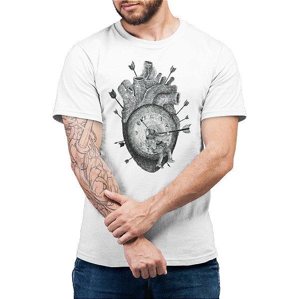 Eu Matei o Tempo Tentando te Esquecer - Camiseta Basicona Unissex