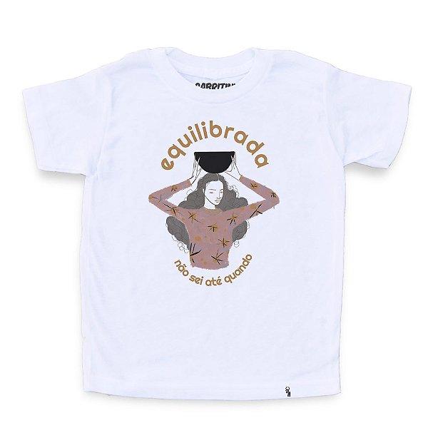 Equilibrada Não Sei Até Quando #azmina - Camiseta Clássica Infantil