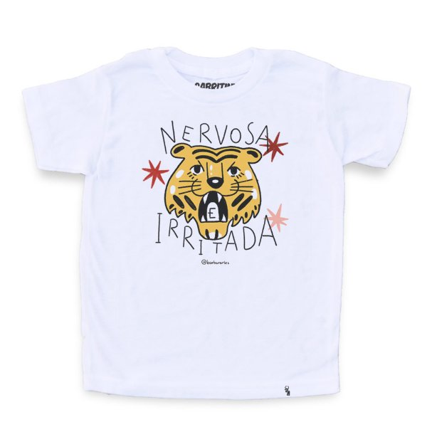 Nervosa e Irritada - Camiseta Clássica Infantil