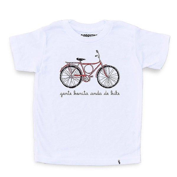 Gente Bonita Anda de Bike - Camiseta Clássica Infantil