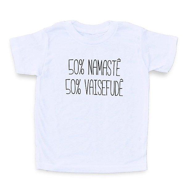 50% Namastê, 50% Vaisefudê - Camiseta Clássica Infantil