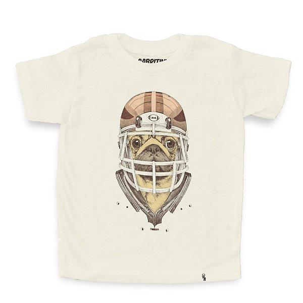 American Football Pug - Camiseta Clássica Infantil