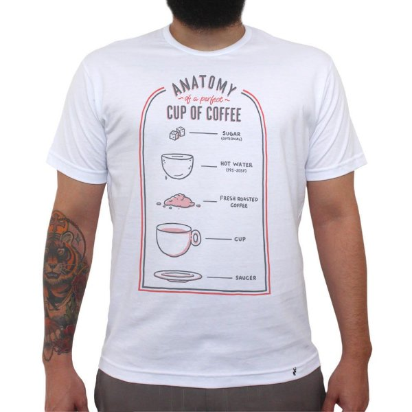 Anatomy of The Perfect Coffee - Camiseta Clássica Masculina