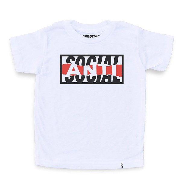 Anti-social - Camiseta Clássica Infantil