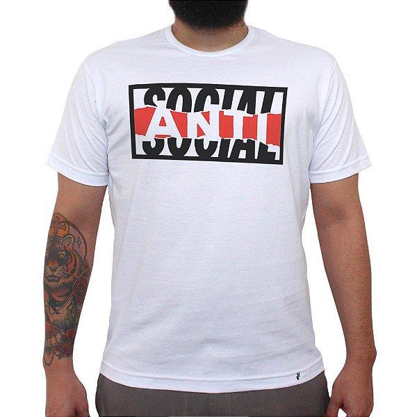 Anti-social - Camiseta Clássica Masculina