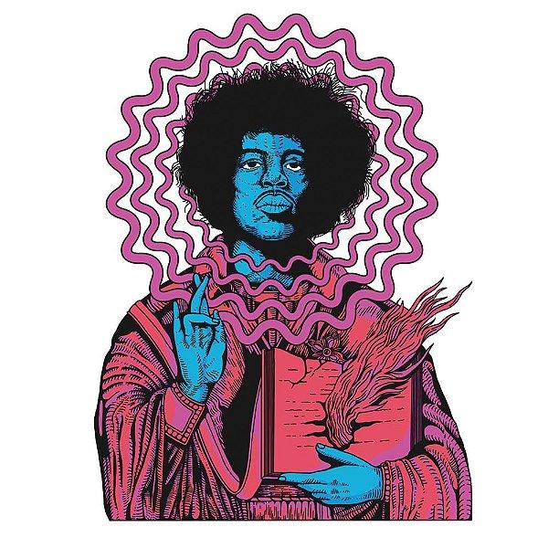 apagaJimi Hendrix - Camiseta Raglan Manga Longa Masculina