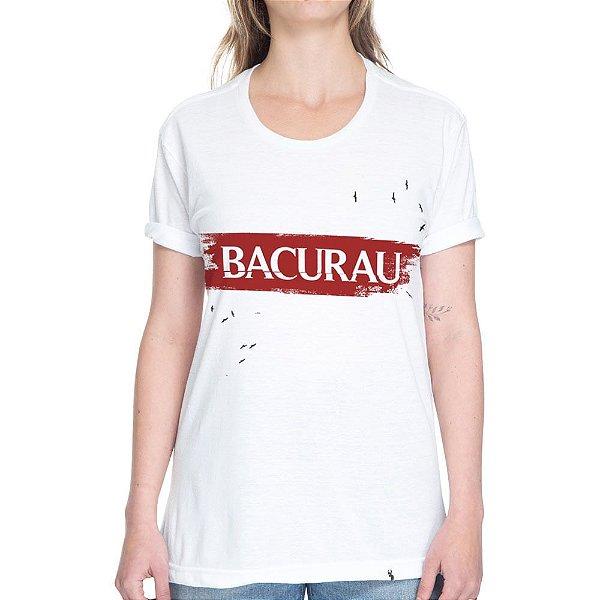 Bacurau Logo #bacurau - Camiseta Basicona Unissex - Branca - XGG