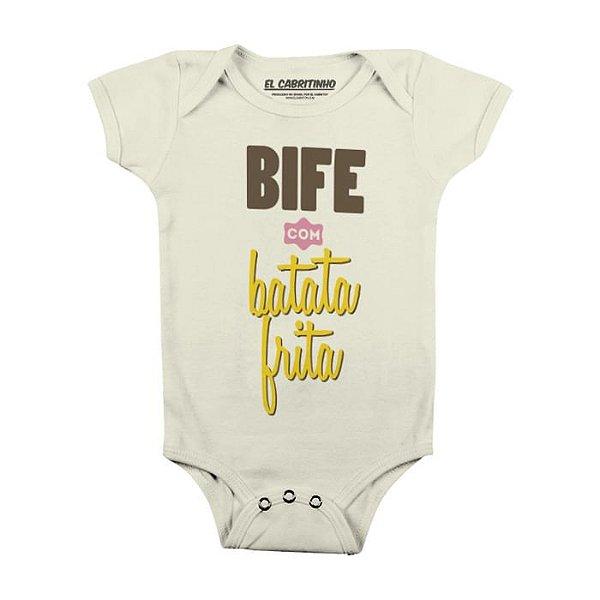 Bife com Batata Frita - Body Infantil