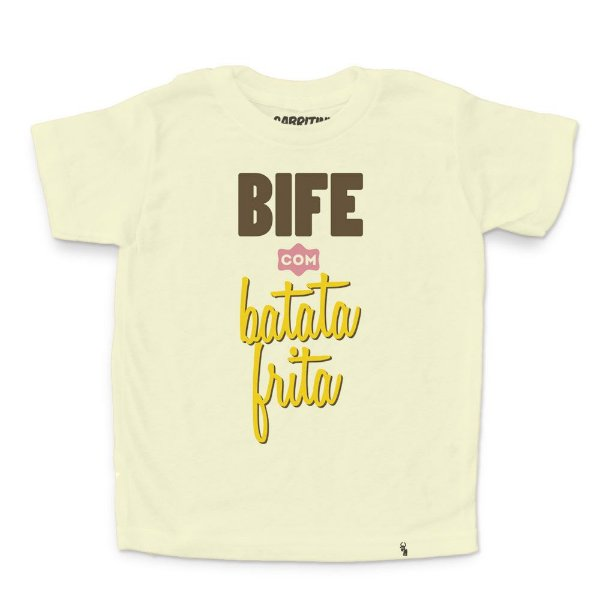 Bife com Batata Frita - Camiseta Clássica Infantil