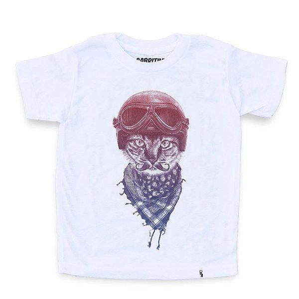 Biker Cat - Camiseta Clássica Infantil