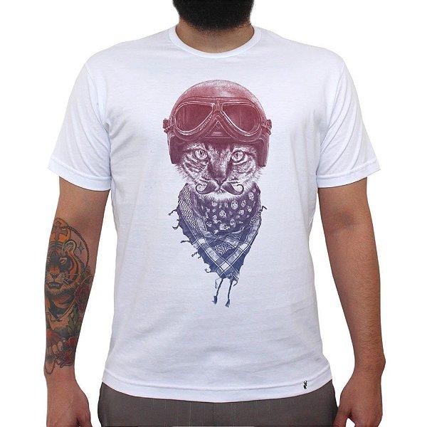 Biker Cat - Camiseta Clássica Masculina