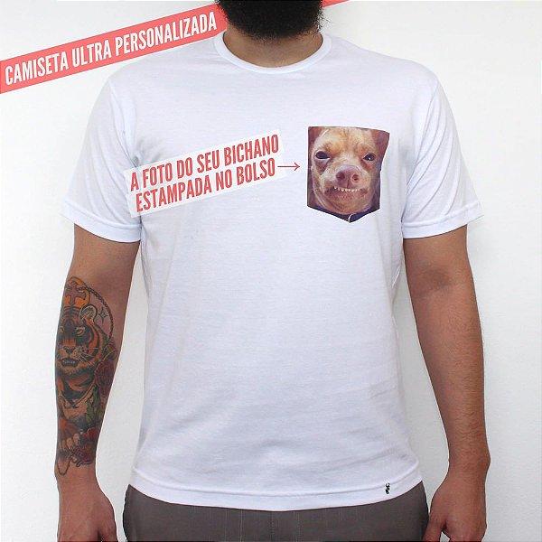 Bolso Personalizado - Camiseta Clássica com Bolso Masculina