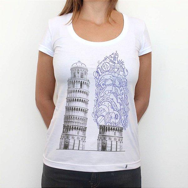 Bubbles em Pisa - Camiseta Clássica Feminina