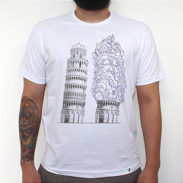 Bubbles em Pisa - Camiseta Clássica Masculina