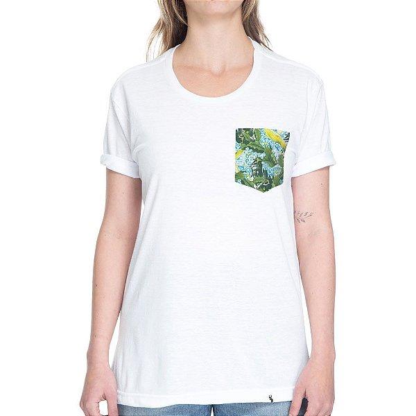Budah, Cogumelos, Cactus, Azulejos - Camiseta Clássica com Bolso
