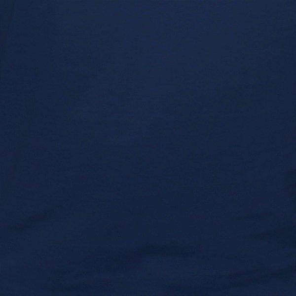 Camiseta Clássica Feminina Lisa Azul Escura
