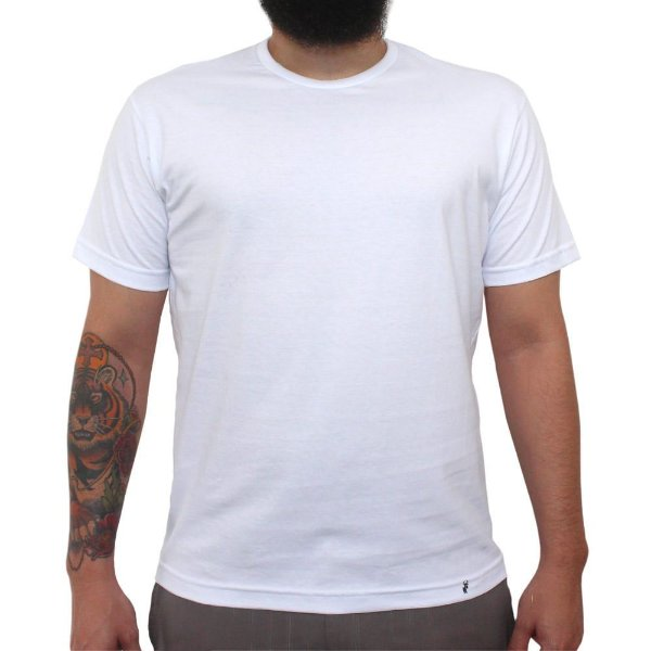 Camiseta Clássica Masculina Lisa Branca