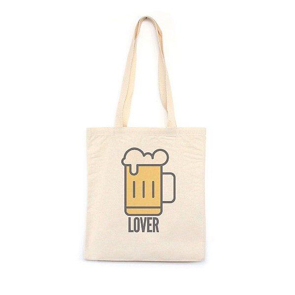 Cerveja Lover - Bolsa de Lona-Off White-U