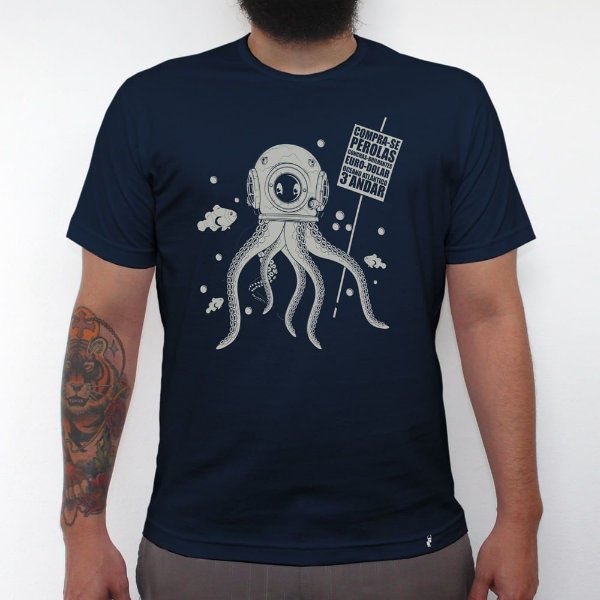 Compra-se Pérolas - Camiseta Clássica Masculina