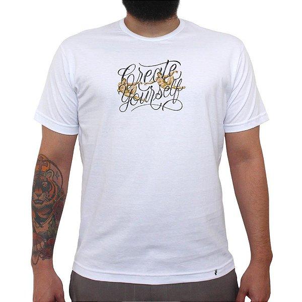 Create Yourself - Camiseta Clássica Masculina