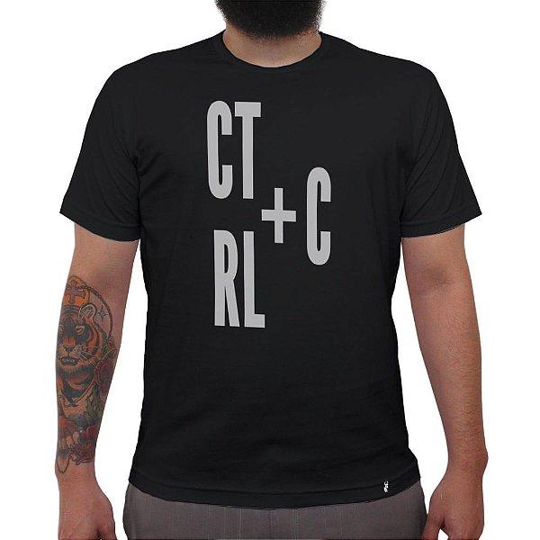 Ctrl+C - Camiseta Clássica Masculina