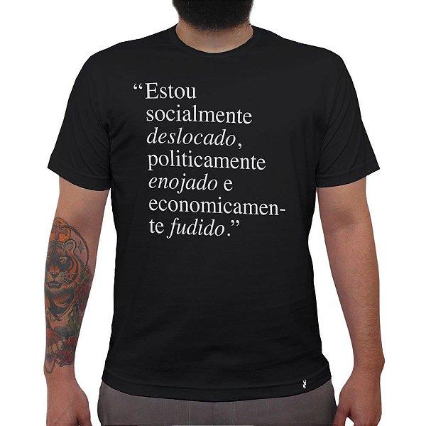 Deslocado, enojado e fudido - Camiseta Clássica Masculina