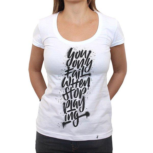 Don`t Stop Playing - Camiseta Clássica Feminina